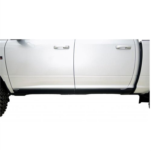 Nova Sill Plates - Bushwacker 14064 Trail Armor Rocker Panel for Dodge Crew Cab (Black, Pair)