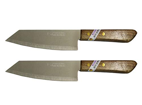 Set of 2 KIWI Brand deba Style Flexible Stainless Steel Knives # 171.
