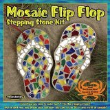Midwest Products Mosaic Flip Flop Stepping Stone Kit (Kit Craft Garden)
