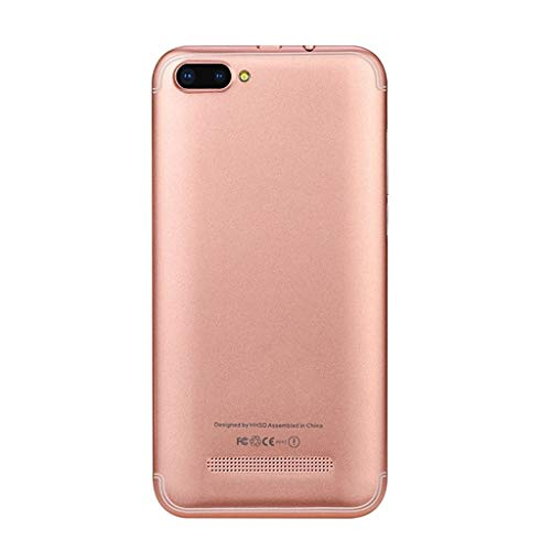 - ❤Android Unlocked Smartphone,2019 New 5.0 inch HD + Display 6.0 1G+4G GPS WiFi Dual SIM 3G Cell Phone Mobile Phone (Rose Gold)