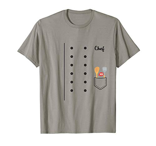 Chef Cook Halloween Costume Cooking Utensils T-Shirt