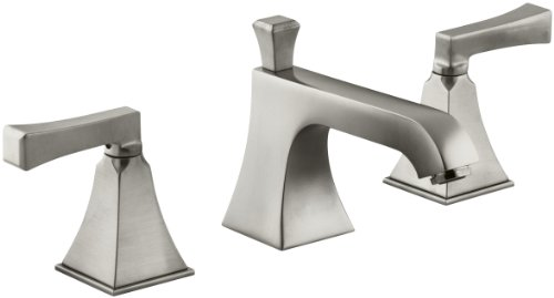 KOHLER K-454-4V-BN Memoirs Widespread Lavatory Faucet with Stately Design, Vibrant Brushed Nickel by Kohler