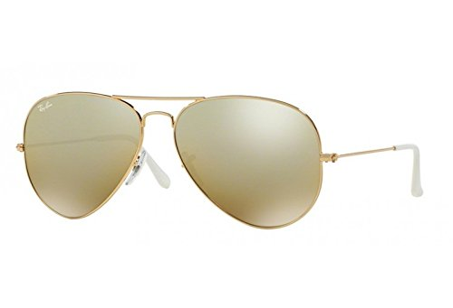 Lunettes de soleil mixte RAY BAN Or RB 3025 AVIATOR 001/3K 55/14