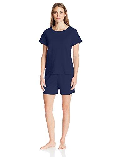 Amazon Essentials Womens 100% Cotton Short-Sleeve Pajama Set