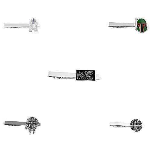 Outlander Star Wars - Assorted Assortment - Tiebar Tie Clasp Set of 5 Wedding Superhero Logo w/Gift Box by Outlander (Image #1)'