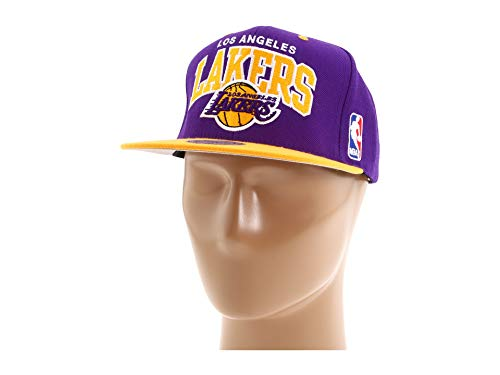 861713bfdbe17a Mitchell & Ness Men's The Los Angeles Lakers Arch 2-Tone Snapback Cap One  Size