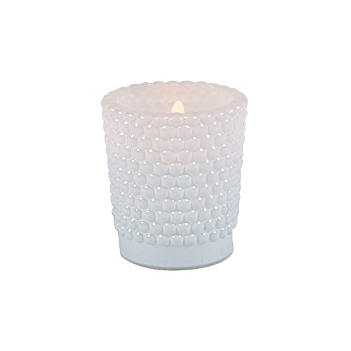 Fun Express - White Hobnail Glass Votives (dz) for Wedding - Home Decor - Candles and Candle Accessories - Candle Holders & Accessories - Wedding - 12 Pieces