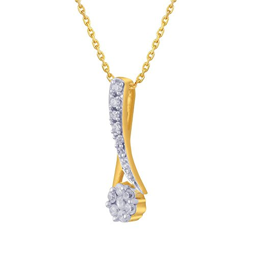Giantti 14 carats Diamant Pendentif Femme Collier (0.2318 CT, VS/Si-clarity, Gh-colour)