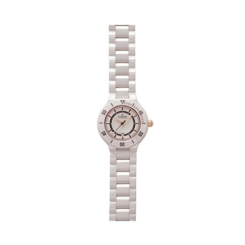 Charmex San Remo 6315 35mm Ceramic Case White Ceramic Synthetic Sapphire Women's Watch