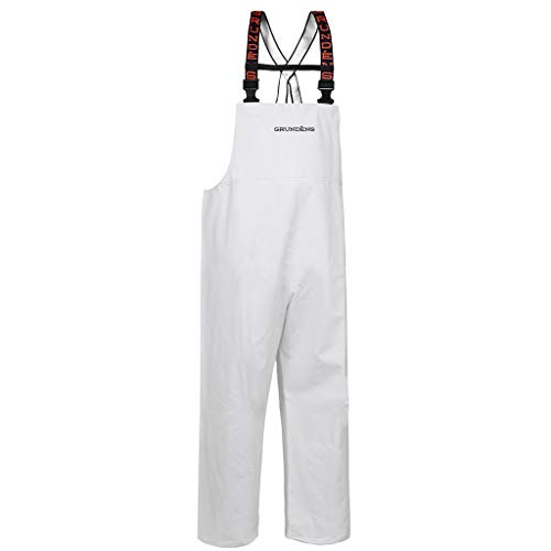 Grundéns Shoreman Fishing Bib Pants, White - Small