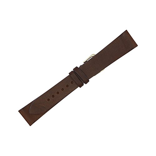 20mm Brown Montana Vintage Leather LONG Flat Replacement Watch Strap Made in USA FBA61