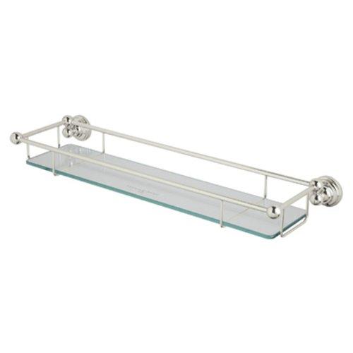 Rohl U.6953PN Perrin and Rowe Wall Mounted Glass Shelf with Towel Rack, Polished - Rohl Shelf Bathroom
