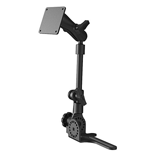 Ram Mounting Systems No Drill (RAM Mount RAM-316-HD-2461U Universal No-Drill RAM Pod HD Vehicle Mount with Double Socket Arm and 3.625
