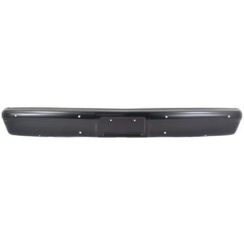 (Front Bumper Compatible with GMC C/K FULL SIZE P/U 1973-1996/SUBURBAN 1981-1991 Black)