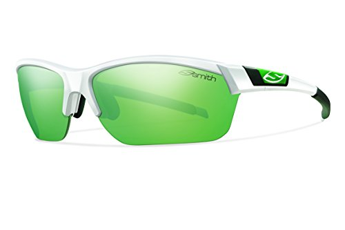 (Smith Optics Approach Max (NEW) Sunglasses, White, Green Mirror/Ignitor/Clear)