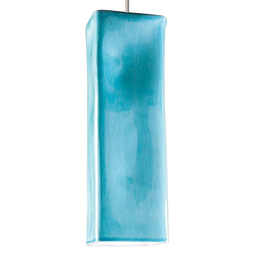 - Magma 1 Light Mini Pendant Finish: Teal Crackle, Canopy and Transformer: With