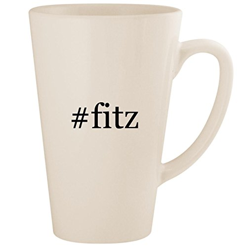 #fitz - White Hashtag 17oz Ceramic Latte Mug ()
