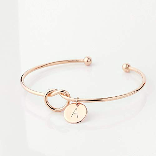 Tie the Knot Bracelet Wedding Bridesmaid Proposal Sorority Gift Initial Cuff Bracelet Best Selling Items Bridesmaid Gift Christmas Gift - KBR ()