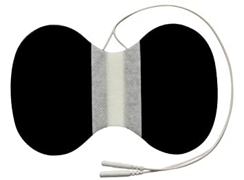 Almohadilla electrodo para cuello Para TENS EMS electroestimuladores conexión de clavija mm