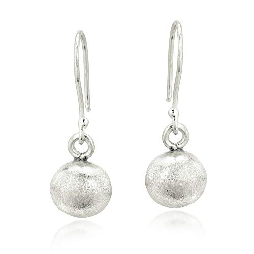Uniquely Simple Karen Hilltribe Silver Sphere Dangle Earrings - Hill Tribe Silver 10mm