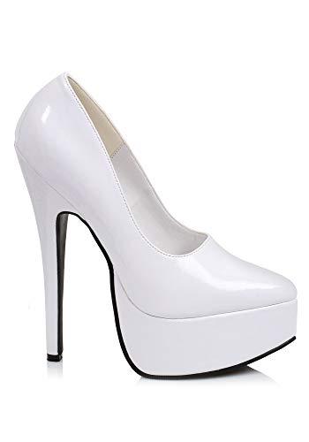 Ellie Shoes Women's 6.5 Inch Stiletto Heel Pump (White;8)