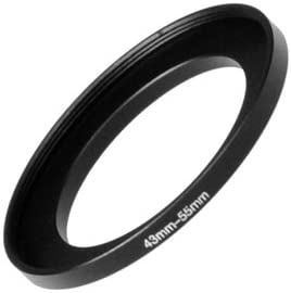 Anodized Black Metal 52mm-58mm Fotodiox Metal Step Up Ring 52-58 mm