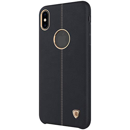 Nillkin Case for Apple iPhone X (5.8″ Inch) Englon Series Leather Finish Exclusive Luxury Protect with Logo Cut Black Color