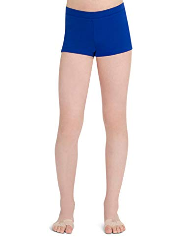 Capezio Big Girls' Boy Cut Low Rise Short,Royal,M (8-10) by Capezio