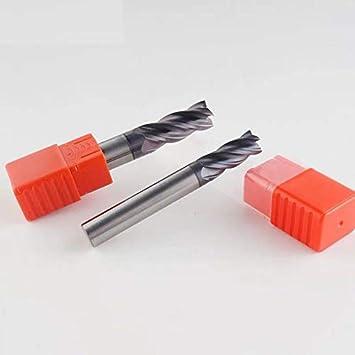 HERRAMIENTAS LSB Dimensions : 4.0x4Dx4Tx50L Herramientas de fresado HRC50 4 Flauta 4 mm 5 mm 6 mm 8 mm 12 mm Carburo Tungsteno Aleaci/ón de cobalto Acero de tungsteno Fresa de extremo Fresa
