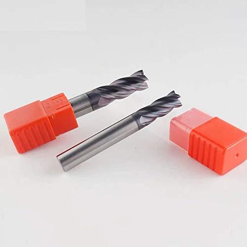Herramientas de fresado HRC50 4 Flauta 4 mm 5 mm 6 mm 8 mm 12 mm Carburo Tungsteno Aleaci/ón de cobalto Acero de tungsteno Fresa de extremo Fresa Dimensions : 4.0x4Dx4Tx50L HERRAMIENTAS LSB