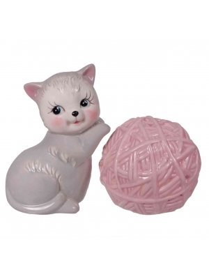 Kitten & Yarn Salt and Pepper Shaker Set