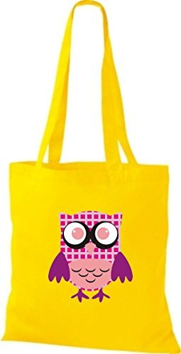 Shirtinstyle - Cotton Fabric Bag For Woman Yellow - Yellow