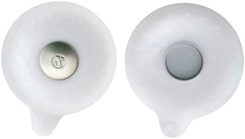 SlipX Solutions Gray Seal Tight Drain Stopper Fits Over Drains to Prevent Leaks Covers Standard Tub /& Sink Drains, Silicone /& Stainless Steel