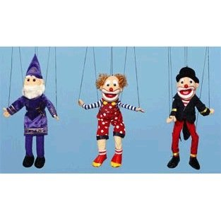 [Clown w/hat Marionette] (Costume Puppet Strings)