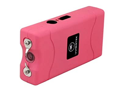 VIPERTEK VTS-880 - 35,000,000 V Mini Stun Gun - Rechargeable with LED Flashlight, Pink