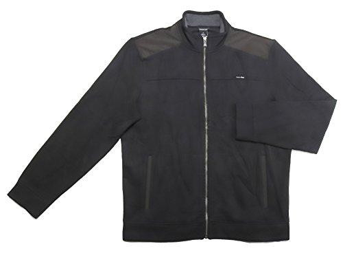 Calvin Klein Jeans Long-Sleeve Full Zip Sweater (Black, Small)