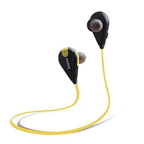 MASUNN Ipipoo Il96Bl Sans Fil Bluetooth 4,2 In-Ear Sport En Cours D'Écoute Écouteurs Écouteurs - Jaune