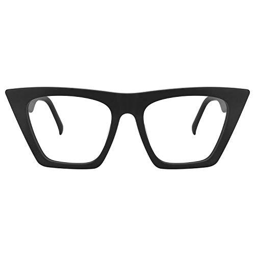 Zeelool Stylish Cat Eye Glasses for Women Cecile FP0662-05 Black
