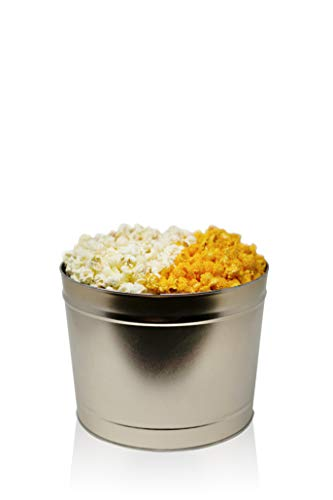 The Cheese Lover Gourmet Popcorn Tin: Handcrafted Artisan Cheddar Cheese, White Cheddar Cheese, and Buffalo Ranch Cheese | Perfect for Movie Nights, Care Packages, and Gift Boxes (2.0 Gold)