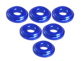 - 3Racing #3RAC-WFS820/BU Shock Tower Shim M8 x 2mm (6pcs) - Blue for 3Racing All