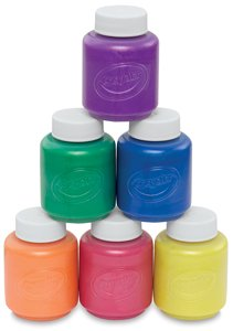 (Crayola Washable Metallic Paint Set, 2-Ounce, 6 Count)