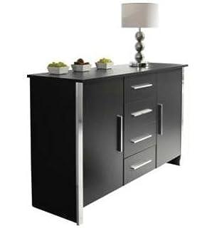 black and chrome furniture. Black And Chrome Furniture. Sideboard Or Cupboard Ash 4 Drawer 2 Door Trim Furniture E