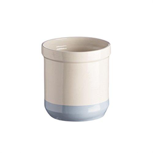 Mason Cash Bakewell Stoneware Utensil Jar, 100-Fluid Ounces, Cream, Blue