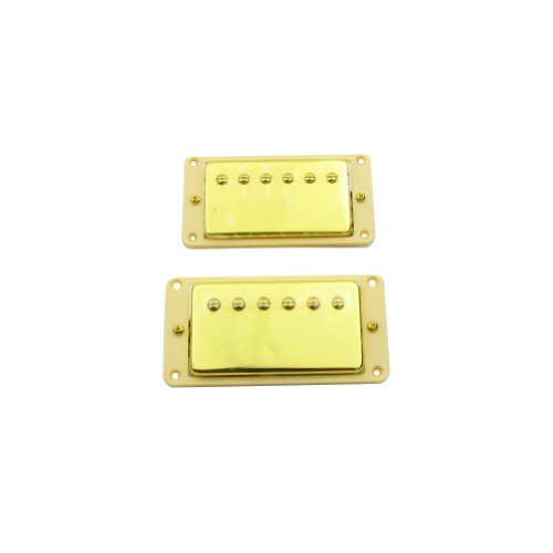 Musiclily 52MM Bridge and 50MM Neck Humbucker Bridge Double Coil Pickups for Gibson Les Paul Guitar Replacement, Gold
