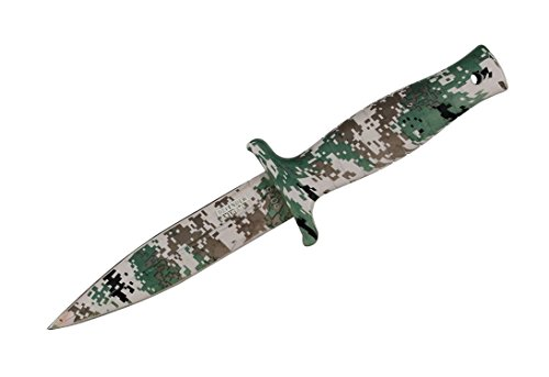 "9"" Defender Xtreme Woodland Camo Hunting Knife with Sheath"