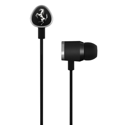 Ferrari AAV-1LFE012K Cavallino G150i Earphones with Three Button Remote - Black (Discontinued by Manufacturer)