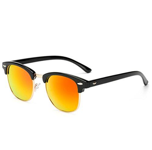 UV400 Polarizadas TAC Plástico Sol Retro Gafas Trend Hombre QQBL Lady Red Red De Metal RxaC0gxqw