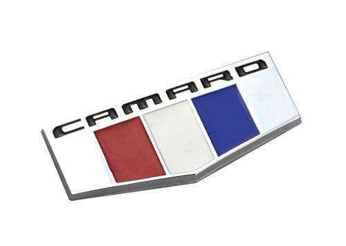 Aimoll 1Pc Camaro M Emblem 3D Badge Front Right Left Fender Replacement for Chevrolet (Chrome) ()