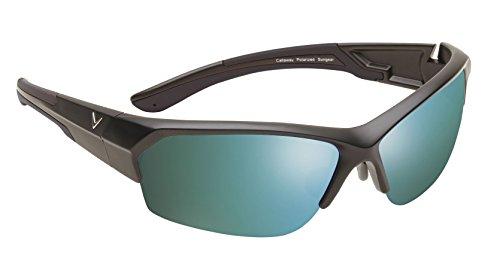Callaway  Sungear Raptor Golf Sunglasses - Matte Black Plastic Frame, Gray Lens w/Green ()