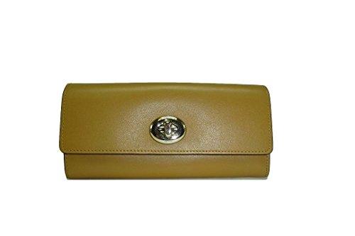 Coach Women's Turnlock Slim Envelope Wallet Leather Walnut 53663 by Coach
